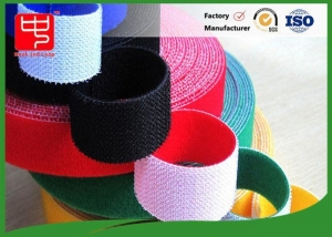 China Wide 50mm double sided sticky hook and loop tape , super strength hook and loop different colors on sale