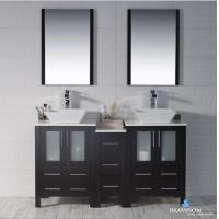 Bathroom Vanities Blossom 60 inch Espresso Double Vanity Set Sydney Series with Vessels