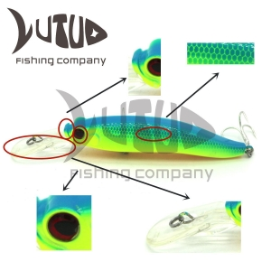 China Top Water Lure Freshwater Saltwater Fishing Lures Hard Bait 3D Eyes Fishing Minnow Lure on sale