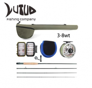 China Fishing Rod Kit With Carry Bag Fishing Fly Lure Fishing Rod And Reel Combo Set on sale