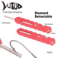 Knife Sharpener Tool Retractable Diamond Sharpener Fire Starter Fishing Hook Sharpener