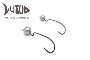 China Big Fish Hook Round Jig Head Customized Unpainted Lure Bodies on sale