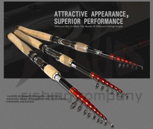 China Selling Weihai Carbon Fiber Collapsible Fishing Rod Spinning Telescopic Fishing Rod on sale