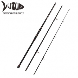 China Fishing Spinning Rod 3-Piece Carbon Fiber Portable Fishing Rod Surf on sale