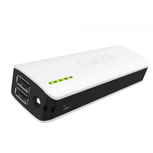 China Ultra slim 10000mah power bank with dual USB ports and LED torch on sale