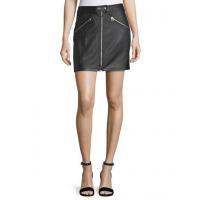 Rag & Bone/jean Racer Slim-Fit Zipper Leather Skirt Women Apparel Skirts
