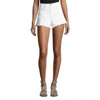 China Rag & Bone/jean Justine High-Rise Cutoff Jean Shorts White Women Apparel Pants on sale