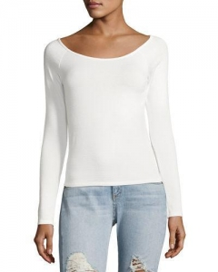 China Rag & Bone/jean Oasis Off-The-Shoulder Top White Women Apparel on sale