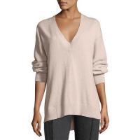 Rag & Bone Ace Cashmere V-Neck Sweater Blush Women Apparel Sweaters