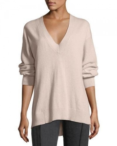 China Rag & Bone Ace Cashmere V-Neck Sweater Blush Women Apparel Sweaters on sale