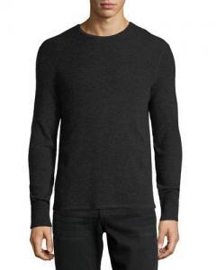 China Rag & Bone Gregory Waffle-Knit Thermal Shirt Black Black Men Apparel Polos & T-Shirts on sale