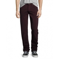 China Rag & Bone Fit 2 Slim-Leg Twill Jeans Distressed Wine Men Apparel on sale