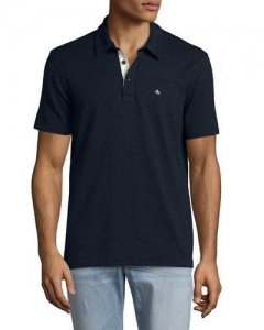 China Rag & Bone Standard Issue Polo Shirt Navy Men Apparel Polos & T-Shirts on sale