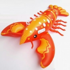 China Large inflatable lobster floats swimming pool floating lobster animal inflatable floats on sale