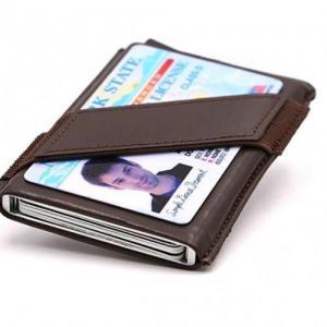 China SZT011 RFID Blocking Slim Money Clip Aluminum Wallet Automatic Pop-up Card Case on sale