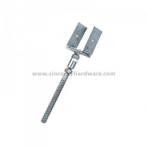 China U Type Adjustable Hot Dipped Galvanized Fence Post Ground Anchor on sale