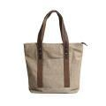 China Reusable Vintage Men Blank Cotton Canvas Tote Bag on sale
