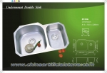 Undermount stainless steel Sink double bowls 8153A
