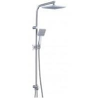Stainless steel shower sliding bar with hand shower set