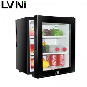 China 30L hotel mini fridge with glass door on sale