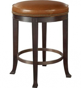 China Custom Seating Newbury Swivel Backless Counter Stool 138-03 on sale