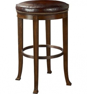 China Custom Seating Newbury Swivel Backless Bar Stool 138-04 on sale