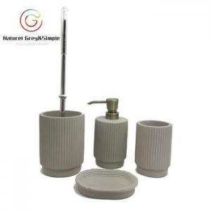 China Cement Bathroom Accessories Set Concrete Bathroom Accessory Set on sale