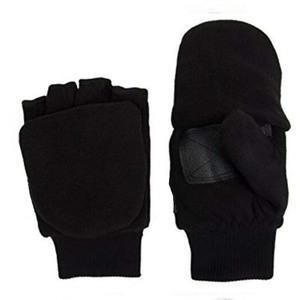 China 3M Fleece Convertible Fingerless Gloves Mittens Women Kids on sale