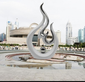China Stainless Steel Sculpture Stainless steel abstract sculpture on sale
