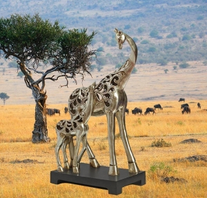China Stainless Steel Sculpture Stainless steel animal sculpture on sale