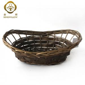 China kINGWILLOW,Oval wicker basket storage vegetable basket on sale