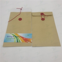 China commercial envelope string and button envelope on sale