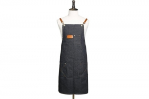 China Waxed Canvas and Leather Apron, Crafter Apron, Barista's Apron, Barbers Apron, Custom Apron WQ01 on sale