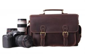 China Vintage Genuine Leather DSLR Camera Bag SLR Camera Bag Leather Camera Bag 6919 on sale