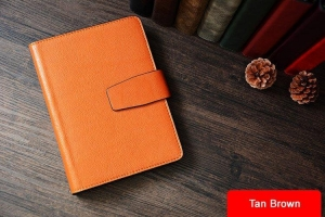 China Custom Handmade Vegetable Tanned Italian Leather A5 Notebook Journal Book Diary Book D049 on sale