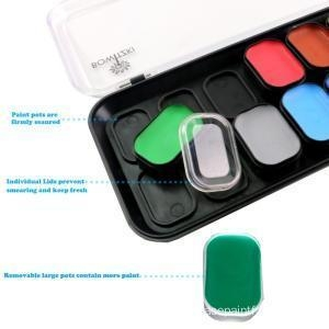 China 18 color Kids face paint kit professional on sale