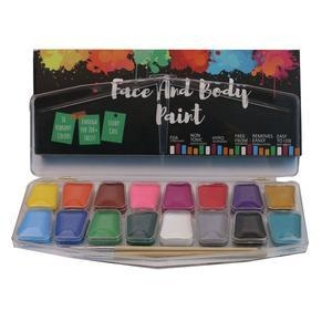China Cheap Halloween Professional 16 colors Face Paint Kit on sale