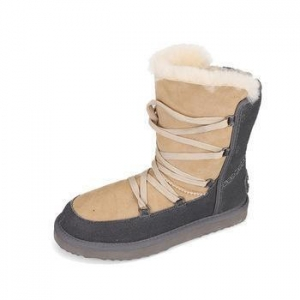 China Handmade lace-up warm cozy genuine leather ladeies winter boots shoes on sale