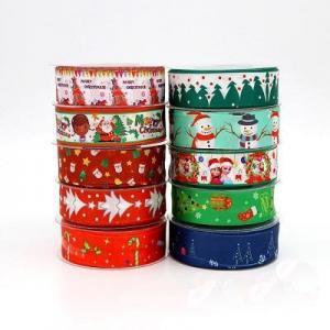 China Christmas Polyester Satin Printing Ribbon on sale