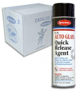 China Glazing Supplies Sprayway 958 Quick Release Agent Case (12) 14 oz. Cans on sale