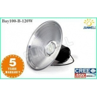 120 w LED High Bay Lights CE ROHS USA Bridgelux COB Industrial Light with Copper