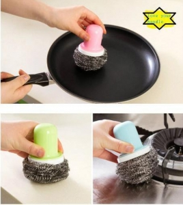 China Stainless Steel Cleaning Scourer for Household Cleaning on sale