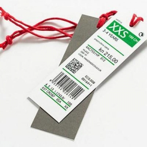 China Anti-theft label Price and barcode tag on sale