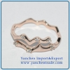 China Brass Material Ring Jewelry With Small CZ Rose Gold Plated for sale