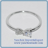 China New Design White Gold Plated Brass Ring AAA CZ for sale