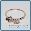 China Lastest Beautiful Brass Ring Rose Gold Plated with CZ for sale