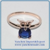 China Brass Ring Jewelry Rose Gold Plated with CZ Stone for sale