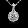 China Classic Rhodium Plated AAA CZ Stone Necklace Brass Metal Top Sales for sale