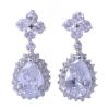 China Rhodium plated Brass Earring with AAA CZ for hot sale for sale