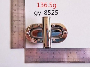 China Polished Twist Lock With Rivet Luxury Leather Bags on sale